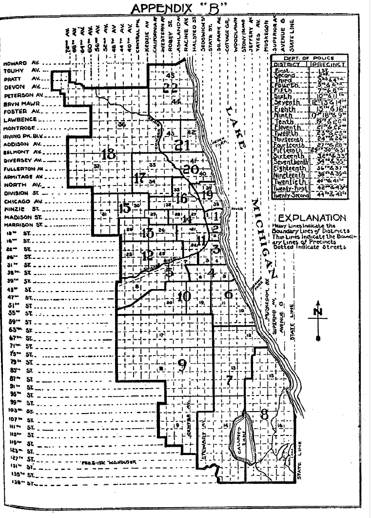 Chicago Police Precincts 1910