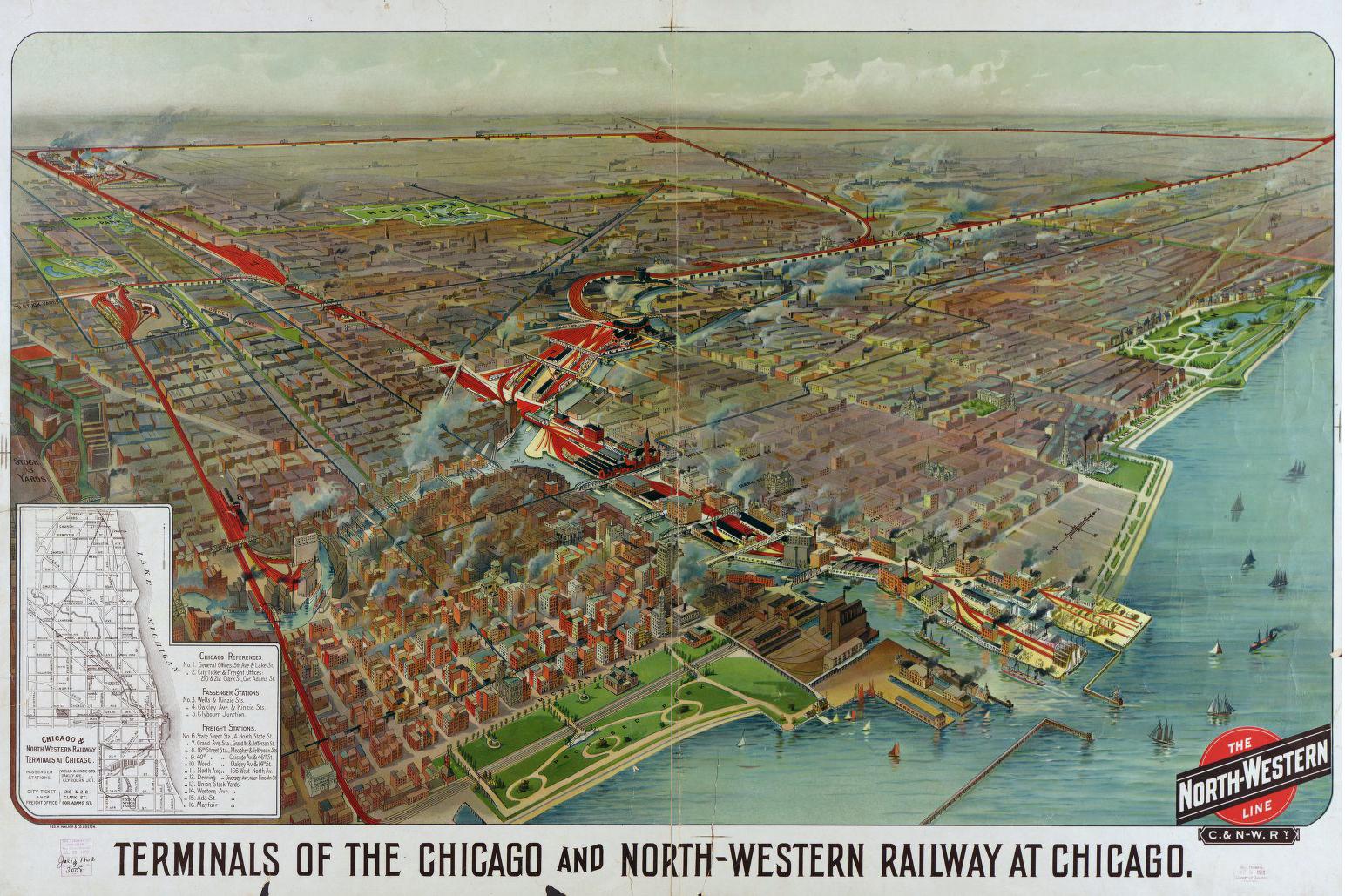 Chicago  Northwestern Wells Street Station - Chicago union map