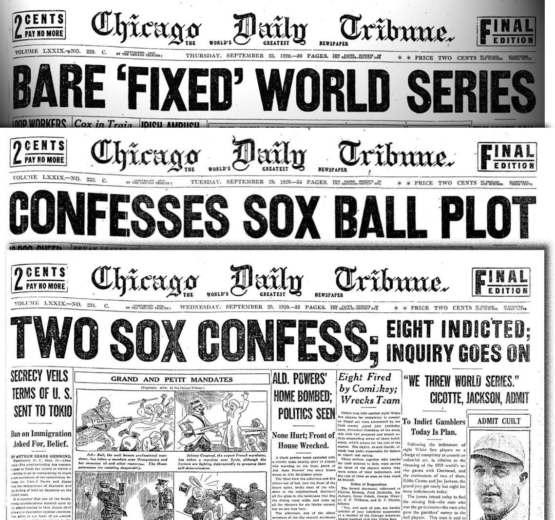 1919 world series essay From the beginning of time, greed and money has motivated man above all else  it seems that in the day that we live in, there is corruption and foul-play.