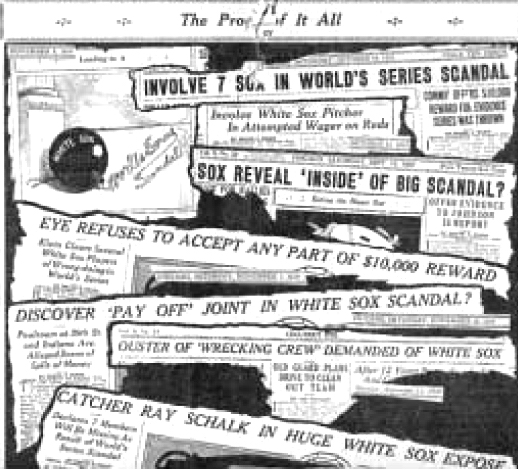 chicago black sox essay Chicago black sox scandal (brief summary)  of the white sox players was persuasion enough to convince eight members of the team to enter into a conspiracy that would change the game of baseball forever and be remembered as the greatest scandal in the history of professional sports.