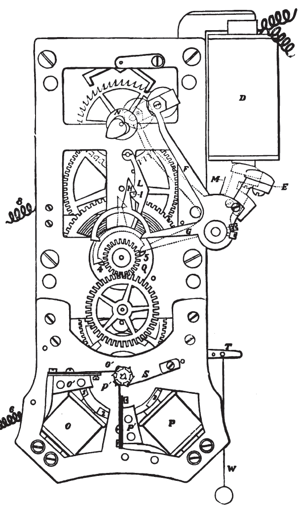 scientificamericanclockdiagram self winding clocks exhibit self winding clock wiring diagram at gsmx.co