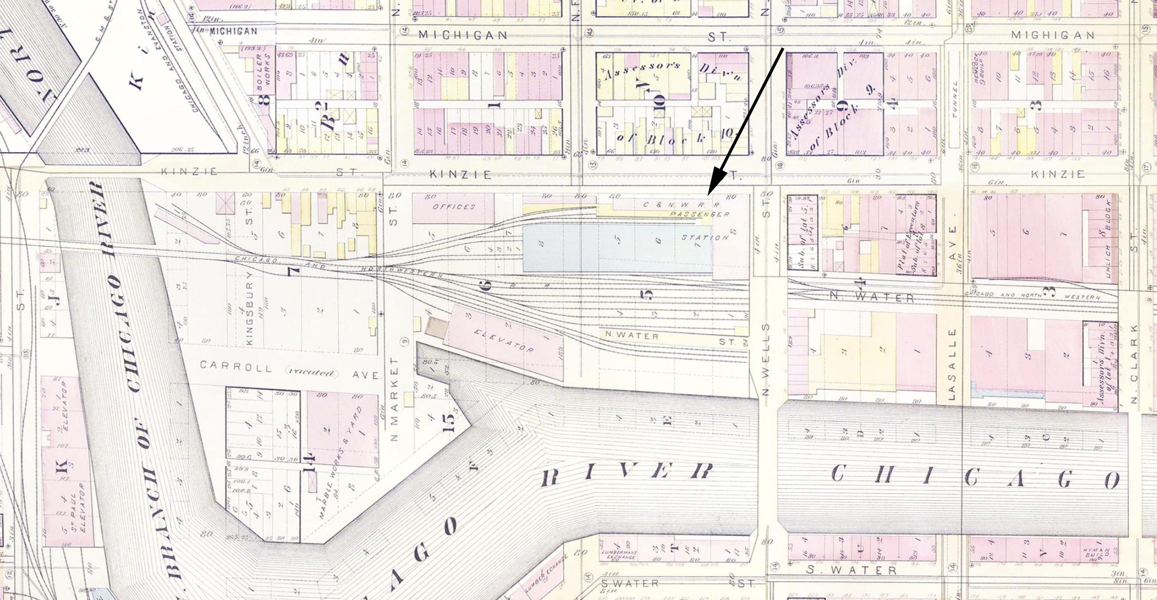 Chicago  Northwestern Wells Street Station - Chicago map union station