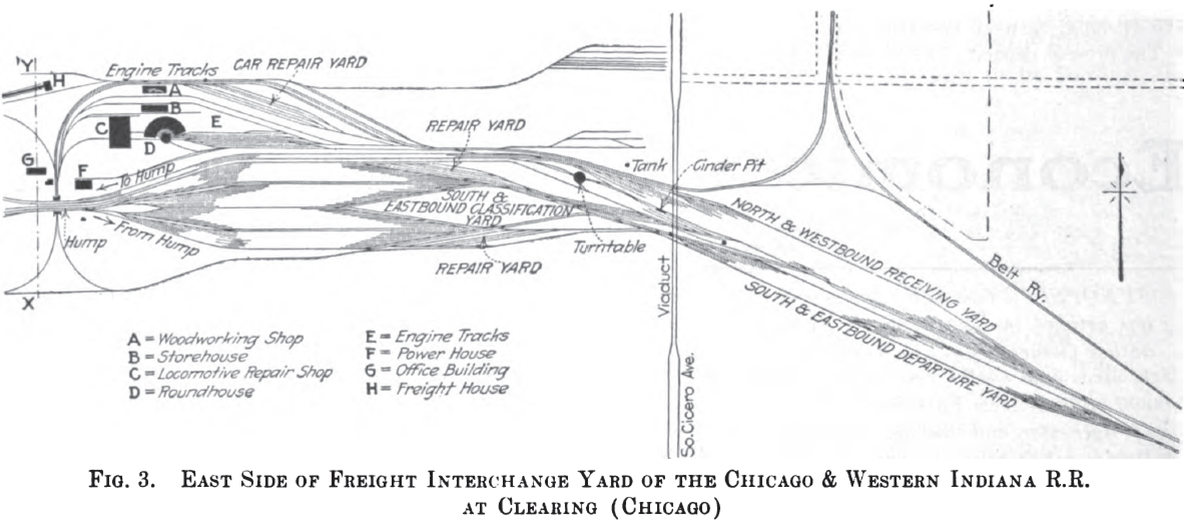 Belt Railways and Clearing Yards in Chicago on indiana harbor belt timetable, indiana & ohio railroad map, port harbor railroad map, indiana harbor railroad system map, norfolk southern railway map, csx transportation map, indiana southern railroad route map, indianapolis belt railroad map, belt railway of chicago map, canadian pacific railway map, indiana interurban railroad map, bnsf railway map,